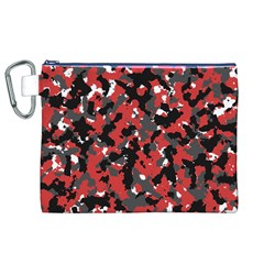 Bloodshot Camo Red Urban Initial Camouflage Canvas Cosmetic Bag (xl) by Mariart