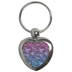 Celebration Purple Pink Grey Key Chains (heart)  by Mariart