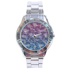 Celebration Purple Pink Grey Stainless Steel Analogue Watch by Mariart
