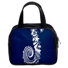 Coral Life Sea Water Blue Fish Star Classic Handbags (2 Sides) by Mariart