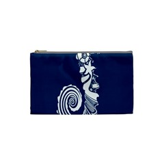 Coral Life Sea Water Blue Fish Star Cosmetic Bag (small)  by Mariart