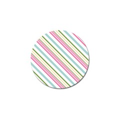 Diagonal Stripes Color Rainbow Pink Green Red Blue Golf Ball Marker (10 Pack) by Mariart