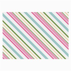 Diagonal Stripes Color Rainbow Pink Green Red Blue Large Glasses Cloth by Mariart