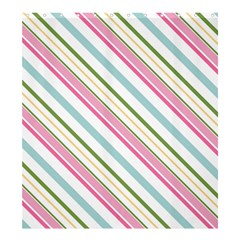 Diagonal Stripes Color Rainbow Pink Green Red Blue Shower Curtain 66  X 72  (large)  by Mariart