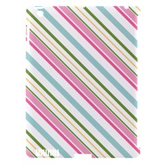 Diagonal Stripes Color Rainbow Pink Green Red Blue Apple Ipad 3/4 Hardshell Case (compatible With Smart Cover) by Mariart