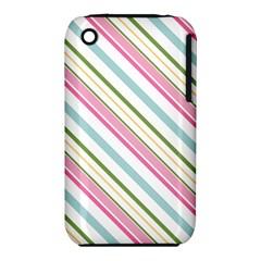 Diagonal Stripes Color Rainbow Pink Green Red Blue Iphone 3s/3gs by Mariart