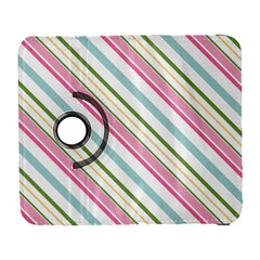 Diagonal Stripes Color Rainbow Pink Green Red Blue Galaxy S3 (flip/folio) by Mariart