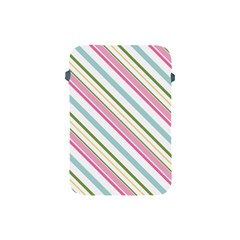 Diagonal Stripes Color Rainbow Pink Green Red Blue Apple Ipad Mini Protective Soft Cases by Mariart