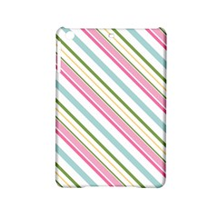 Diagonal Stripes Color Rainbow Pink Green Red Blue Ipad Mini 2 Hardshell Cases by Mariart