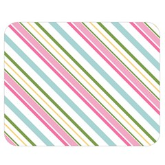 Diagonal Stripes Color Rainbow Pink Green Red Blue Double Sided Flano Blanket (medium)  by Mariart