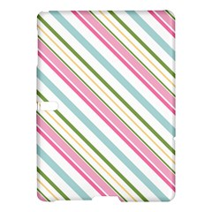 Diagonal Stripes Color Rainbow Pink Green Red Blue Samsung Galaxy Tab S (10 5 ) Hardshell Case