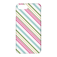 Diagonal Stripes Color Rainbow Pink Green Red Blue Apple Iphone 7 Plus Hardshell Case by Mariart