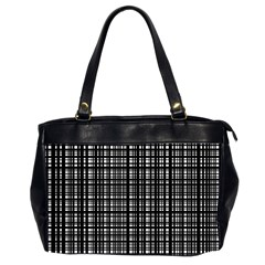 Crosshatch Target Line Black Office Handbags (2 Sides)  by Mariart