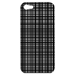 Crosshatch Target Line Black Apple Iphone 5 Hardshell Case by Mariart