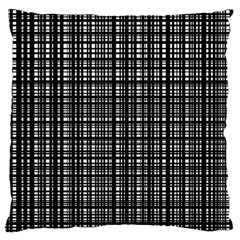 Crosshatch Target Line Black Standard Flano Cushion Case (one Side) by Mariart