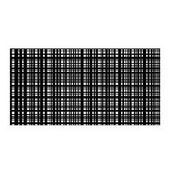 Crosshatch Target Line Black Satin Wrap by Mariart