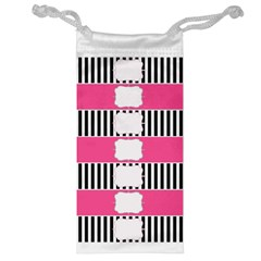 Custom Water Bottle Labels Line Black Pink Jewelry Bag by Mariart