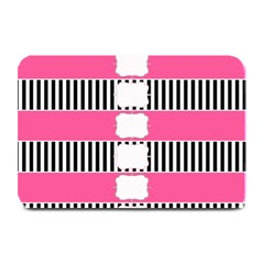 Custom Water Bottle Labels Line Black Pink Plate Mats by Mariart