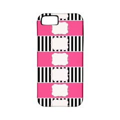 Custom Water Bottle Labels Line Black Pink Apple Iphone 5 Classic Hardshell Case (pc+silicone) by Mariart