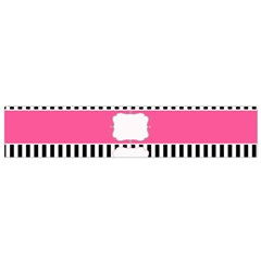 Custom Water Bottle Labels Line Black Pink Flano Scarf (small) by Mariart