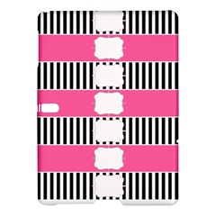 Custom Water Bottle Labels Line Black Pink Samsung Galaxy Tab S (10 5 ) Hardshell Case  by Mariart