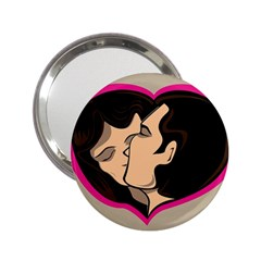 Don t Kiss With A Bloody Nose Face Man Girl Love 2 25  Handbag Mirrors by Mariart