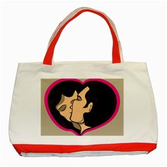 Don t Kiss With A Bloody Nose Face Man Girl Love Classic Tote Bag (red) by Mariart