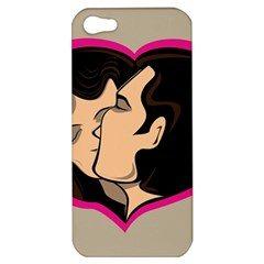 Don t Kiss With A Bloody Nose Face Man Girl Love Apple Iphone 5 Hardshell Case by Mariart