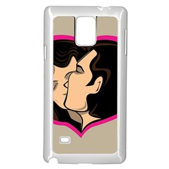 Don t Kiss With A Bloody Nose Face Man Girl Love Samsung Galaxy Note 4 Case (white) by Mariart