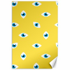 Eye Blue White Yellow Monster Sexy Image Canvas 20  X 30   by Mariart