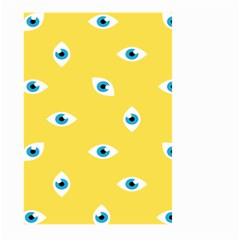 Eye Blue White Yellow Monster Sexy Image Large Garden Flag (two Sides) by Mariart