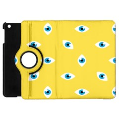 Eye Blue White Yellow Monster Sexy Image Apple Ipad Mini Flip 360 Case by Mariart