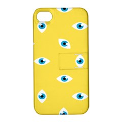 Eye Blue White Yellow Monster Sexy Image Apple Iphone 4/4s Hardshell Case With Stand by Mariart