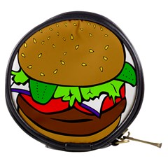 Fast Food Lunch Dinner Hamburger Cheese Vegetables Bread Mini Makeup Bags by Mariart