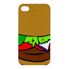 Fast Food Lunch Dinner Hamburger Cheese Vegetables Bread Apple Iphone 4/4s Hardshell Case by Mariart