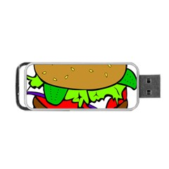 Fast Food Lunch Dinner Hamburger Cheese Vegetables Bread Portable Usb Flash (two Sides) by Mariart