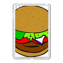 Fast Food Lunch Dinner Hamburger Cheese Vegetables Bread Apple Ipad Mini Case (white) by Mariart