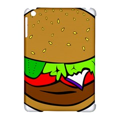 Fast Food Lunch Dinner Hamburger Cheese Vegetables Bread Apple Ipad Mini Hardshell Case (compatible With Smart Cover) by Mariart