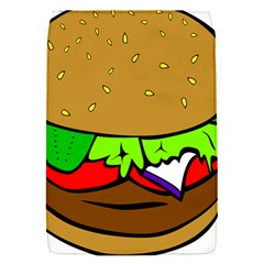 Fast Food Lunch Dinner Hamburger Cheese Vegetables Bread Flap Covers (s)  by Mariart