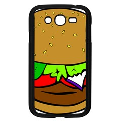 Fast Food Lunch Dinner Hamburger Cheese Vegetables Bread Samsung Galaxy Grand Duos I9082 Case (black) by Mariart