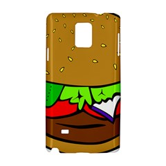 Fast Food Lunch Dinner Hamburger Cheese Vegetables Bread Samsung Galaxy Note 4 Hardshell Case by Mariart