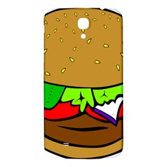 Fast Food Lunch Dinner Hamburger Cheese Vegetables Bread Samsung Galaxy Mega I9200 Hardshell Back Case