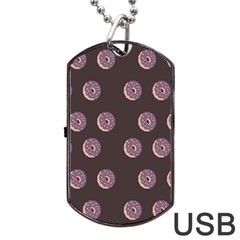 Donuts Dog Tag Usb Flash (two Sides) by Mariart