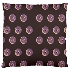 Donuts Large Cushion Case (two Sides) by Mariart