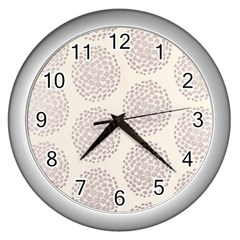 Flower Floral Star Sakura Purple Wall Clocks (silver)  by Mariart