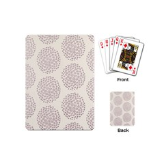 Flower Floral Star Sakura Purple Playing Cards (mini)  by Mariart