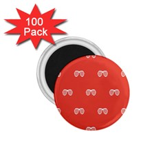 Glasses Disco Retina Red White Line 1 75  Magnets (100 Pack)  by Mariart