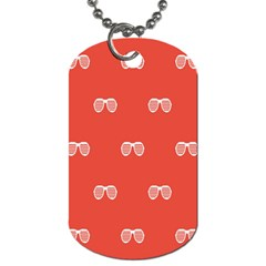 Glasses Disco Retina Red White Line Dog Tag (one Side) by Mariart