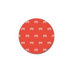 Glasses Disco Retina Red White Line Golf Ball Marker (10 Pack) by Mariart