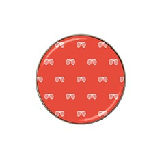 Glasses Disco Retina Red White Line Hat Clip Ball Marker by Mariart